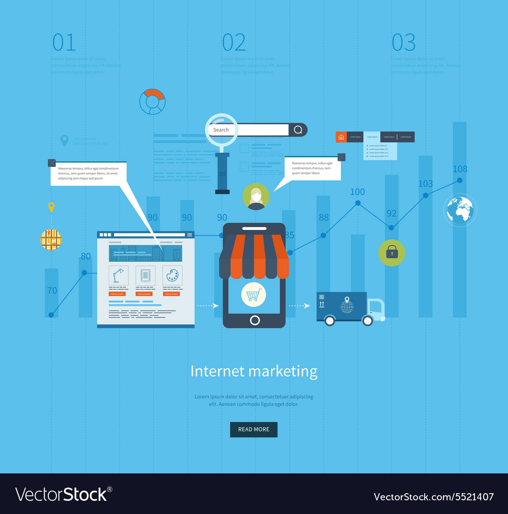 Icons for internet marketing delivery and online