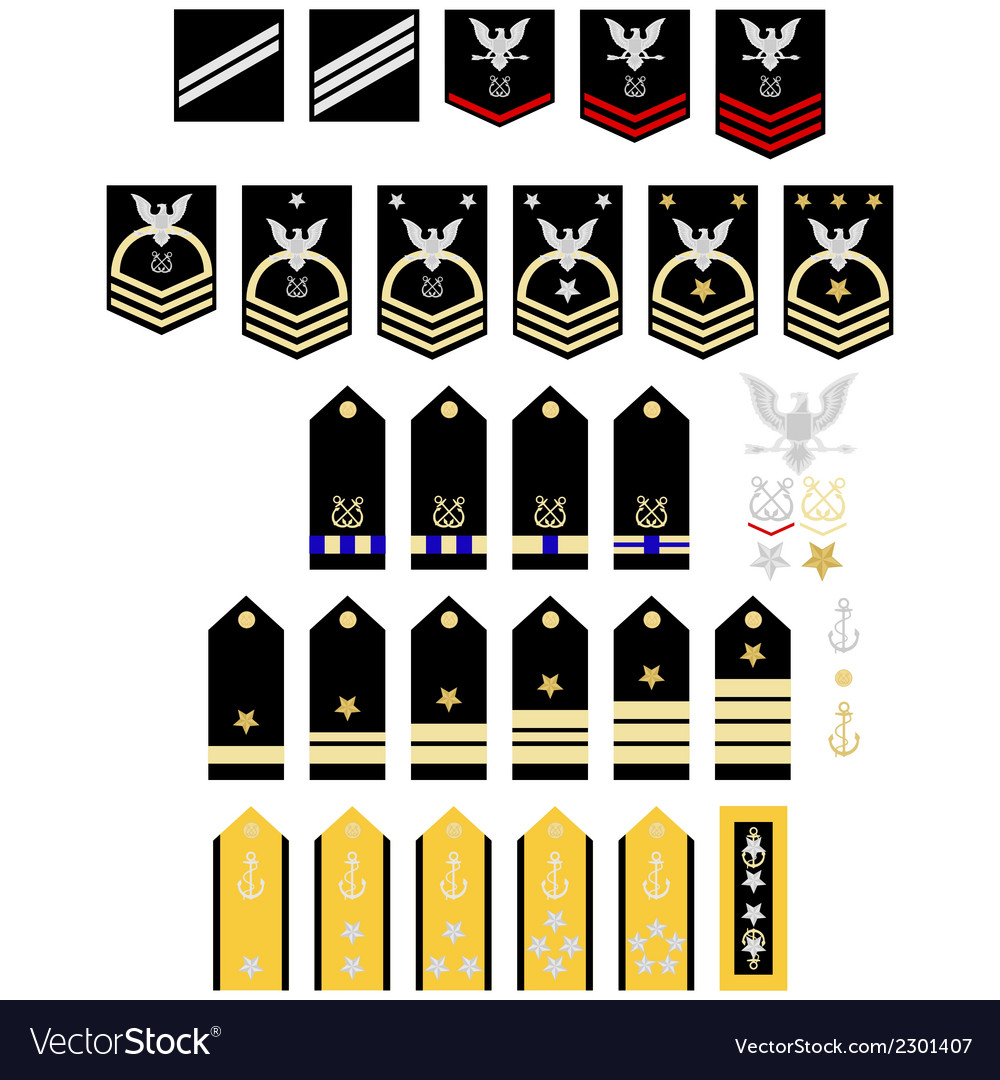 Insignia Of The Us Navy Royalty Free Vector Image