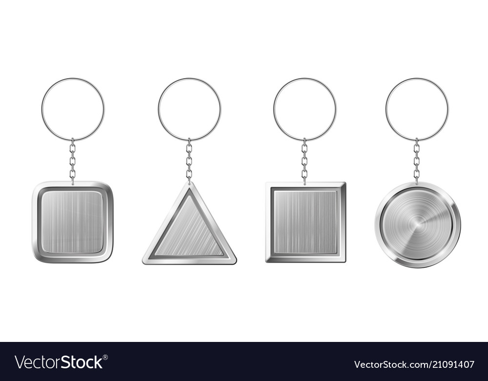 Key ring with silver pendant holder blank