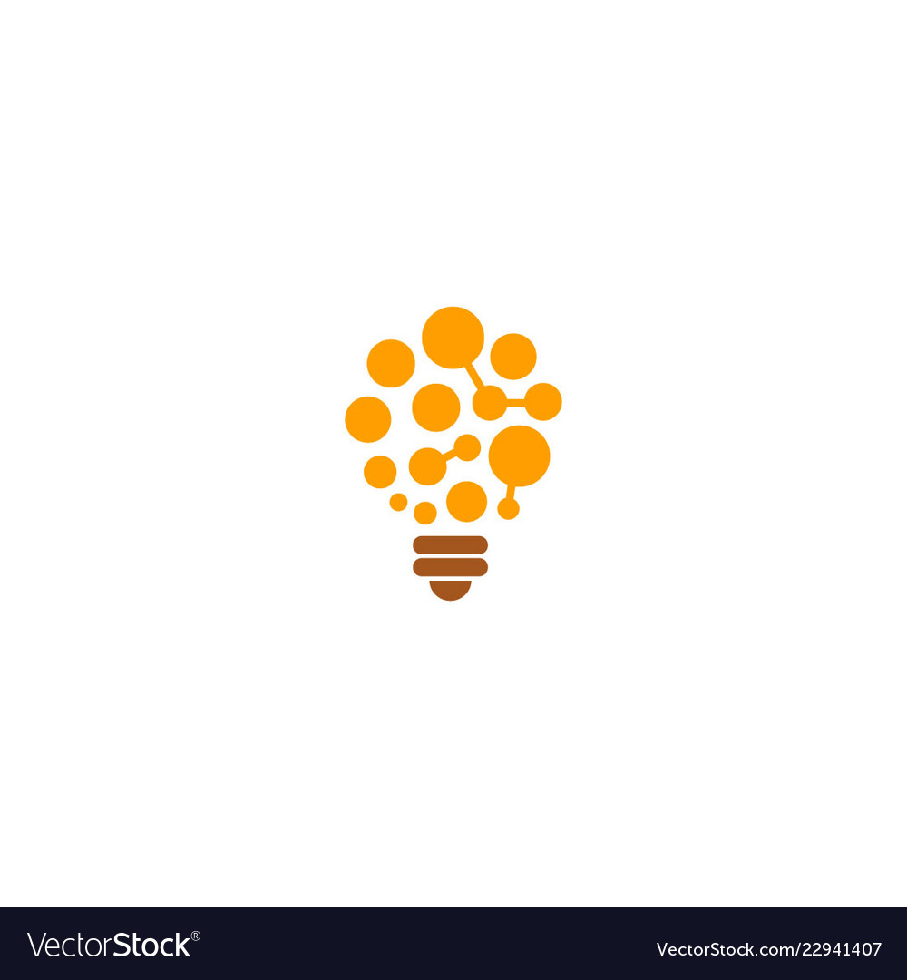 Light bulb idea technology logo