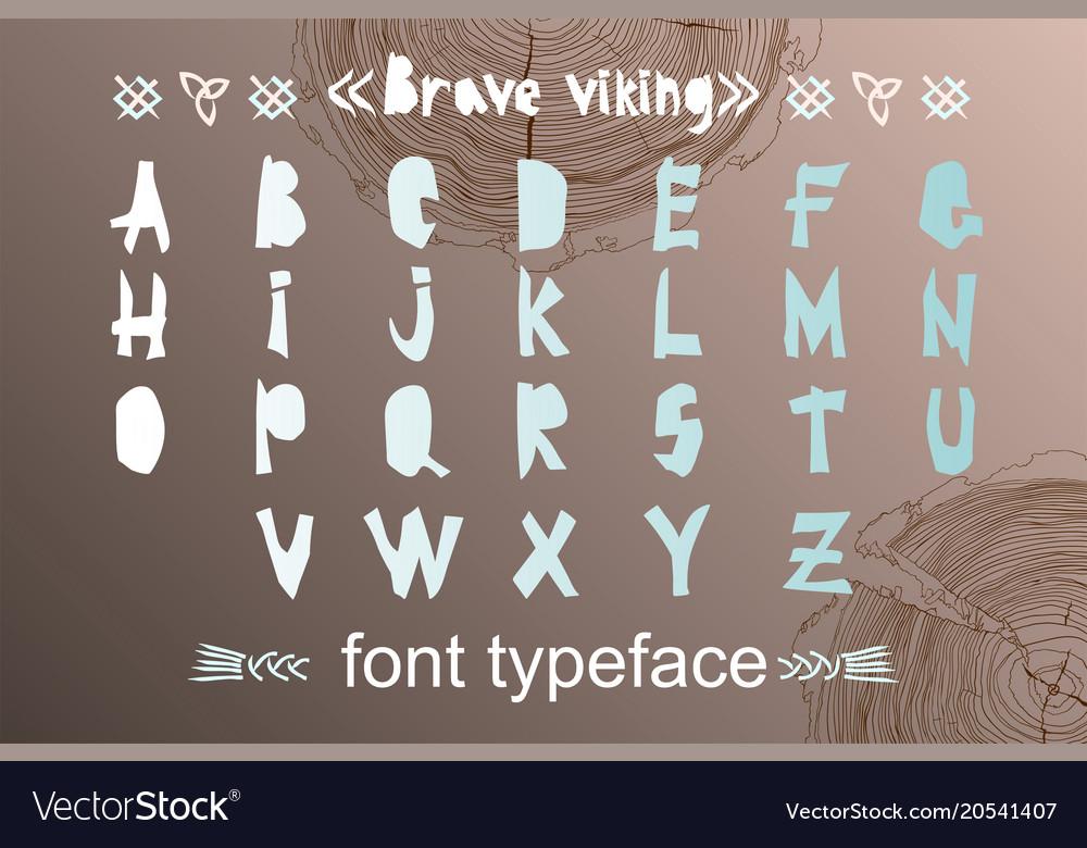 Modern alphabet in paper cut style scandinavian