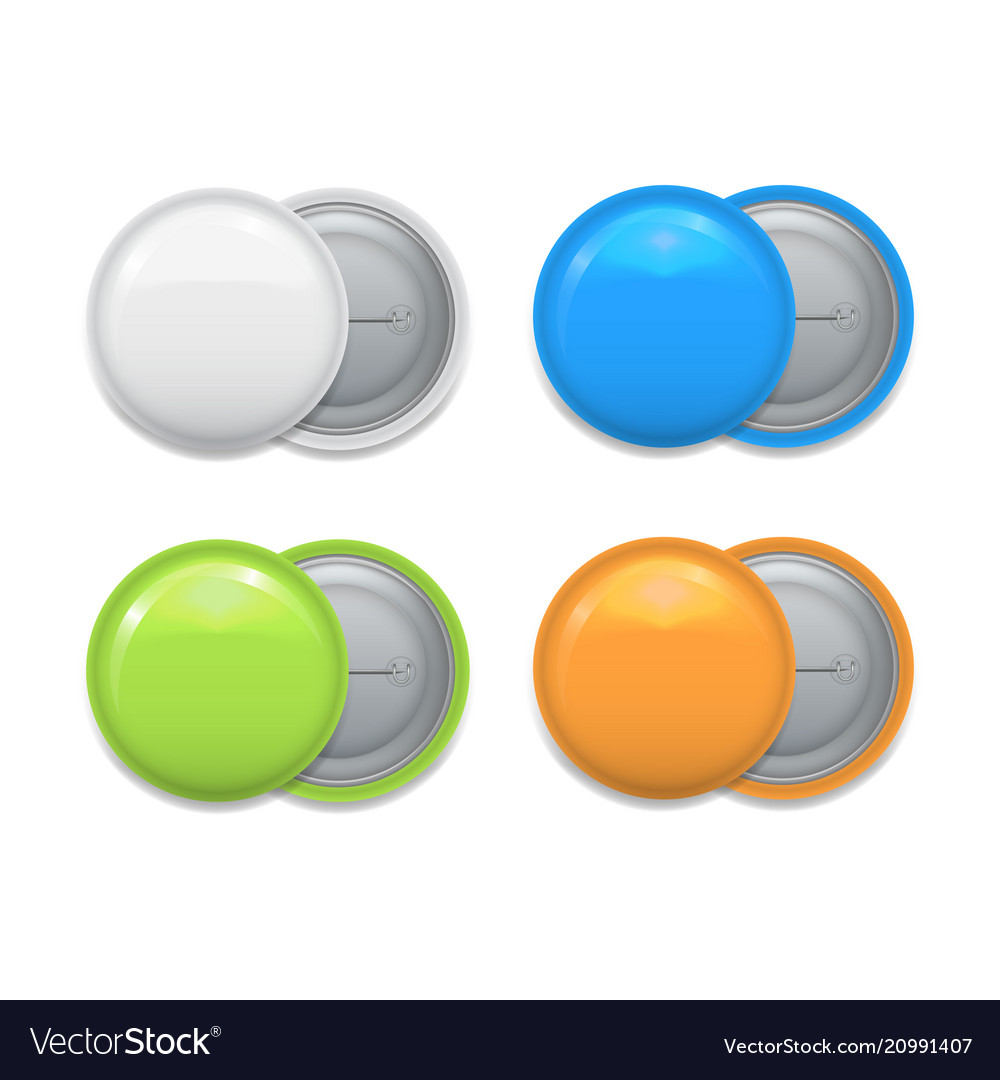 Set of colorful badges on white