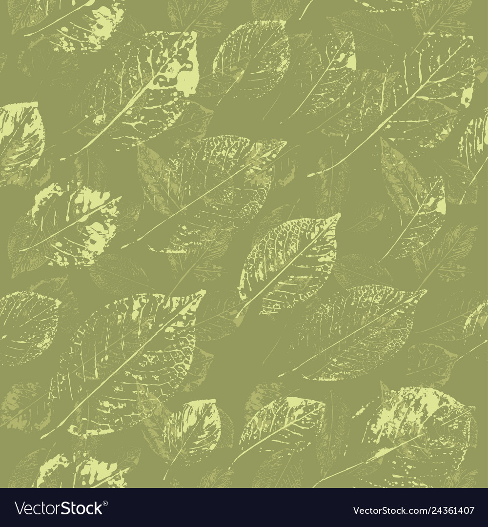 Spring floral seamless background leaves