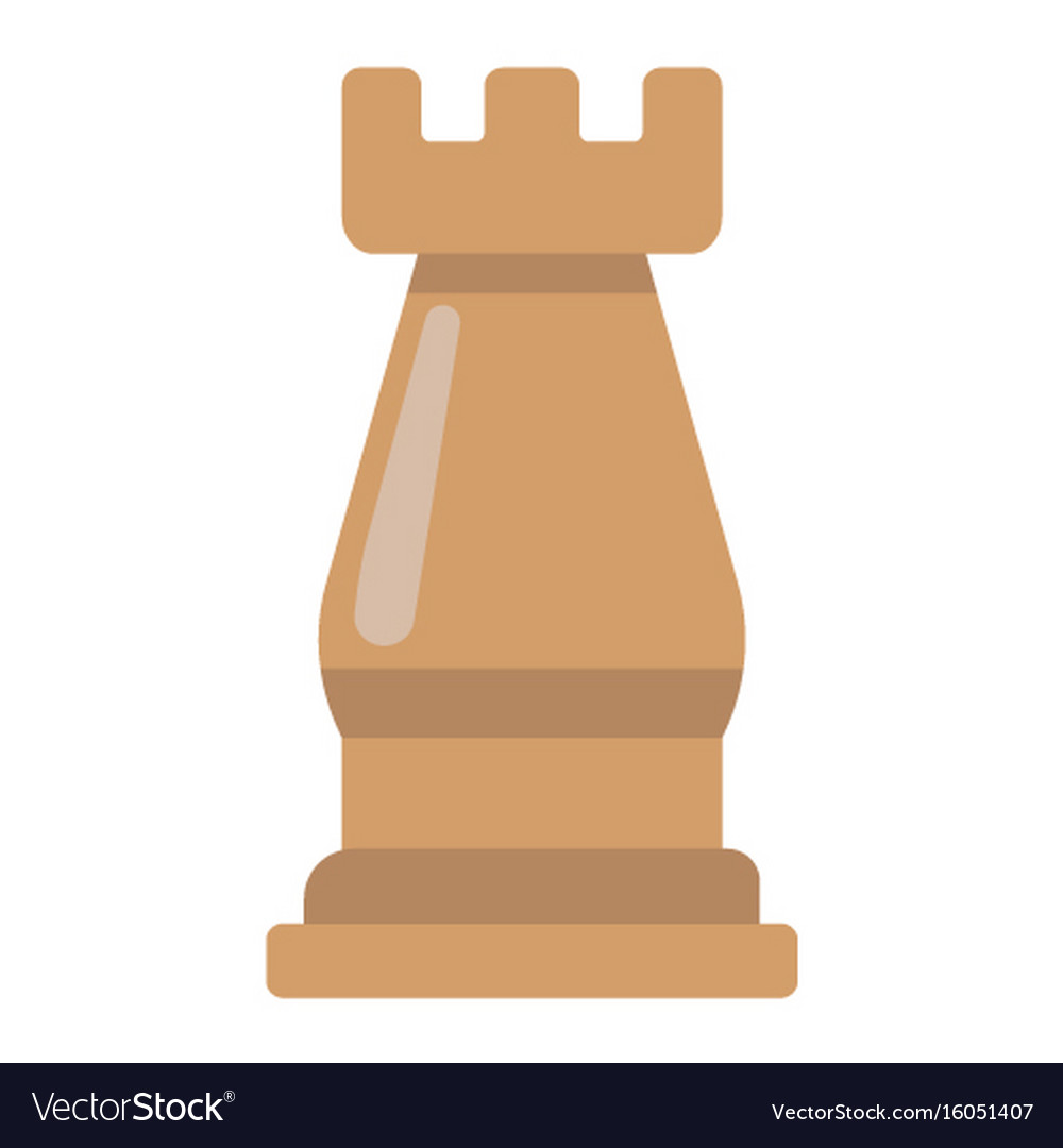 Strategic plan flat icon business and rook chess