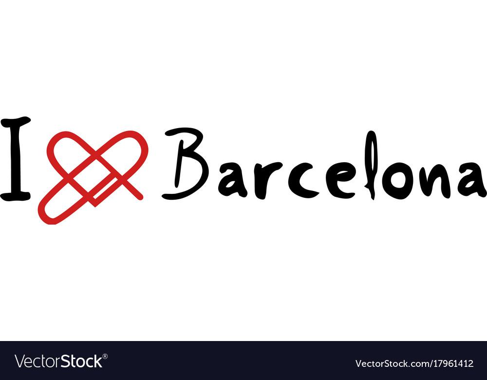 Barcelona love icon