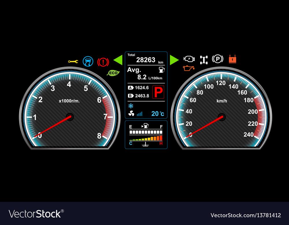 Bmw Dash Light Symbols >> Car dash board eps 10 Royalty Free Vector Image