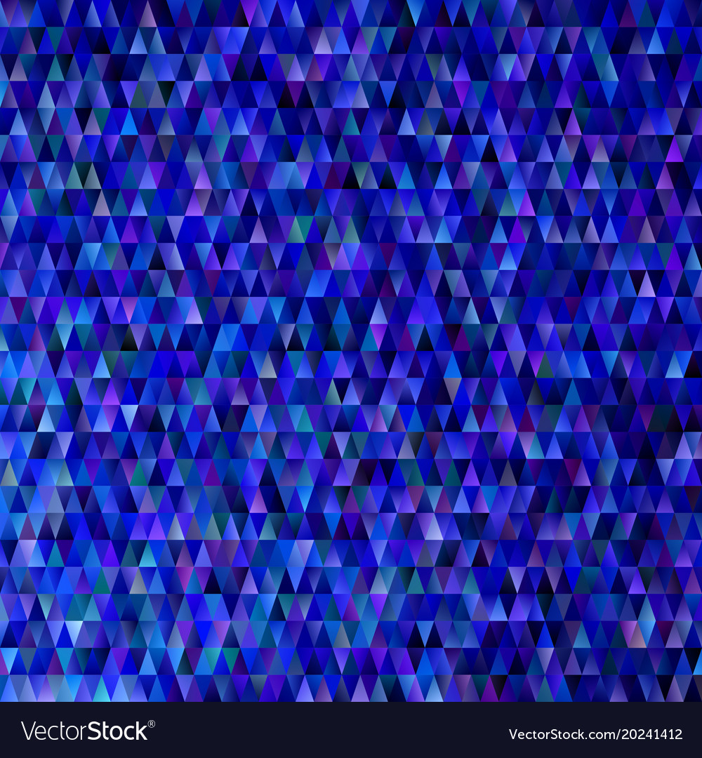 Dark blue abstract gradient geometrical triangle vector image
