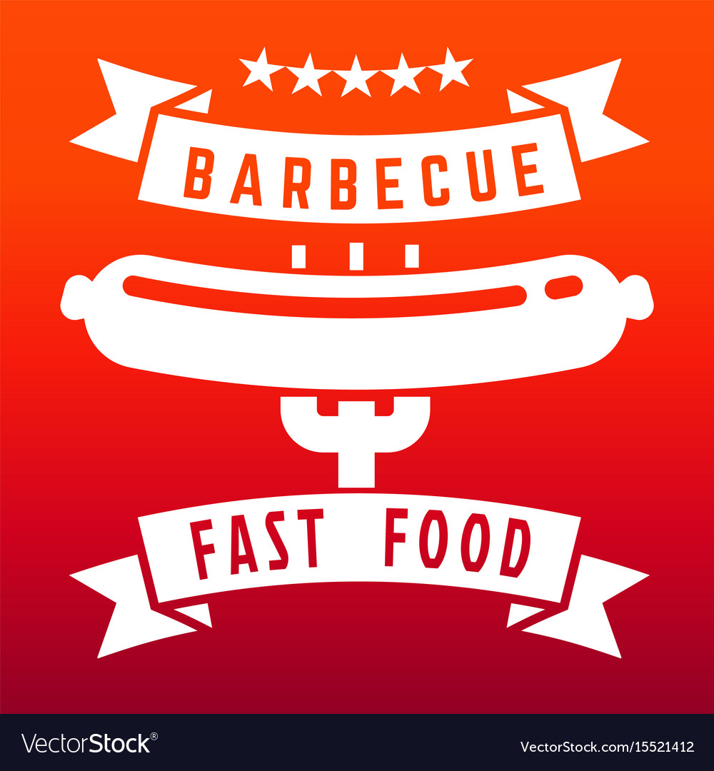 Fast food or barbecue label on flame color