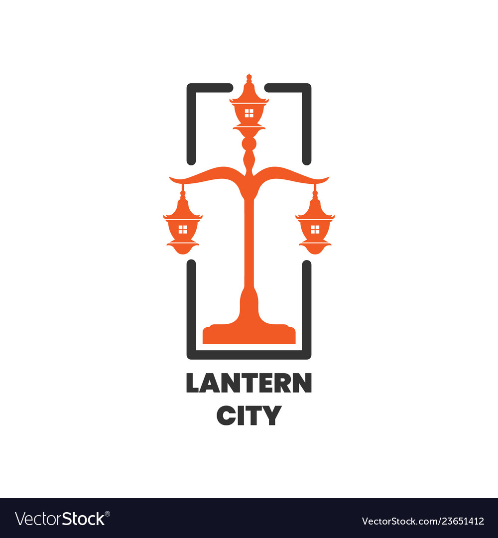 Lantern city pole logo design inspiration