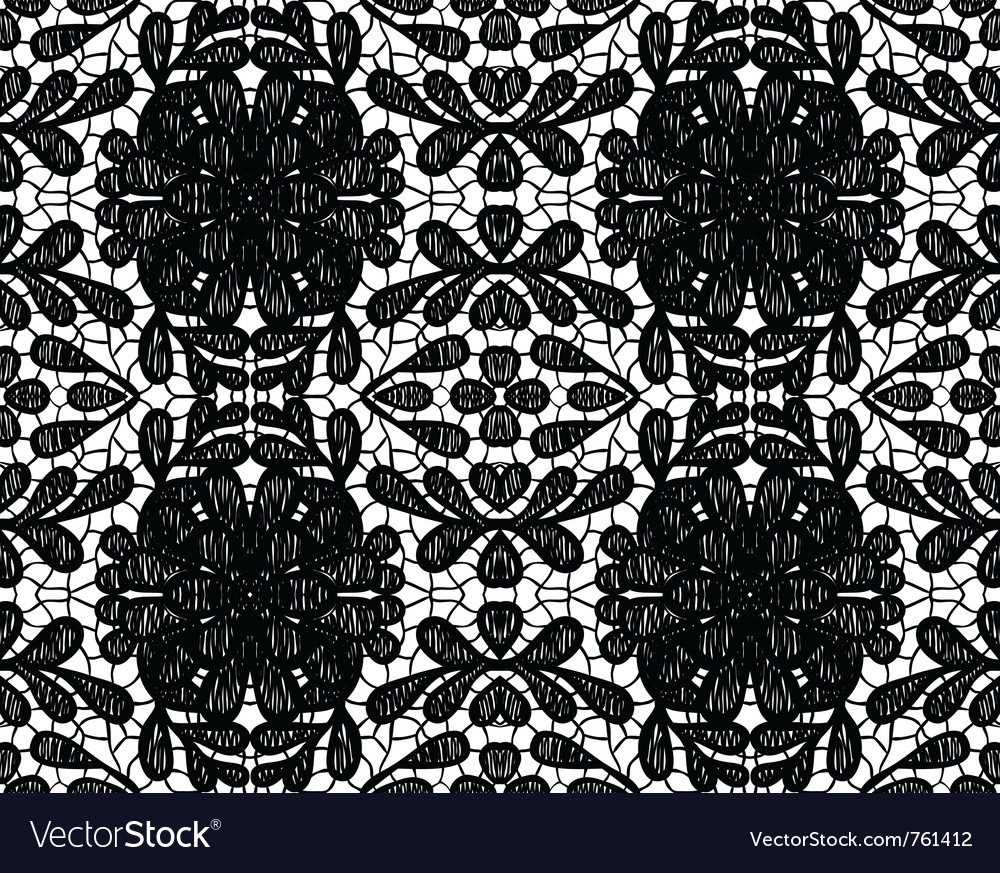 Simple lace with large flower vector image
