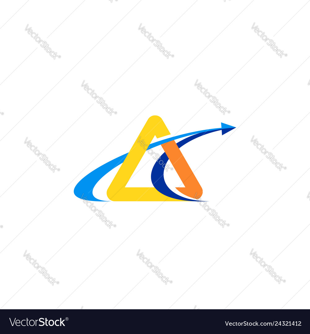 Triangle arrow finance logo symbol icon design