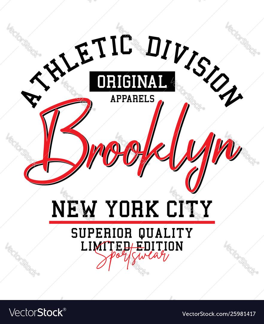 Athletic brooklyn typography sports