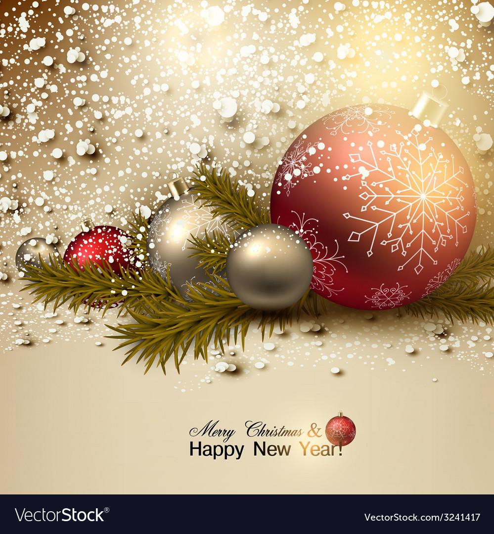 Beautiful Christmas Background Images.Beautiful Christmas Background With Red And Golden