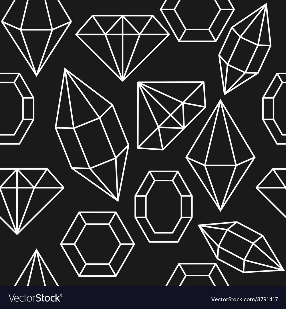 Diamond jem shape seamless pattern