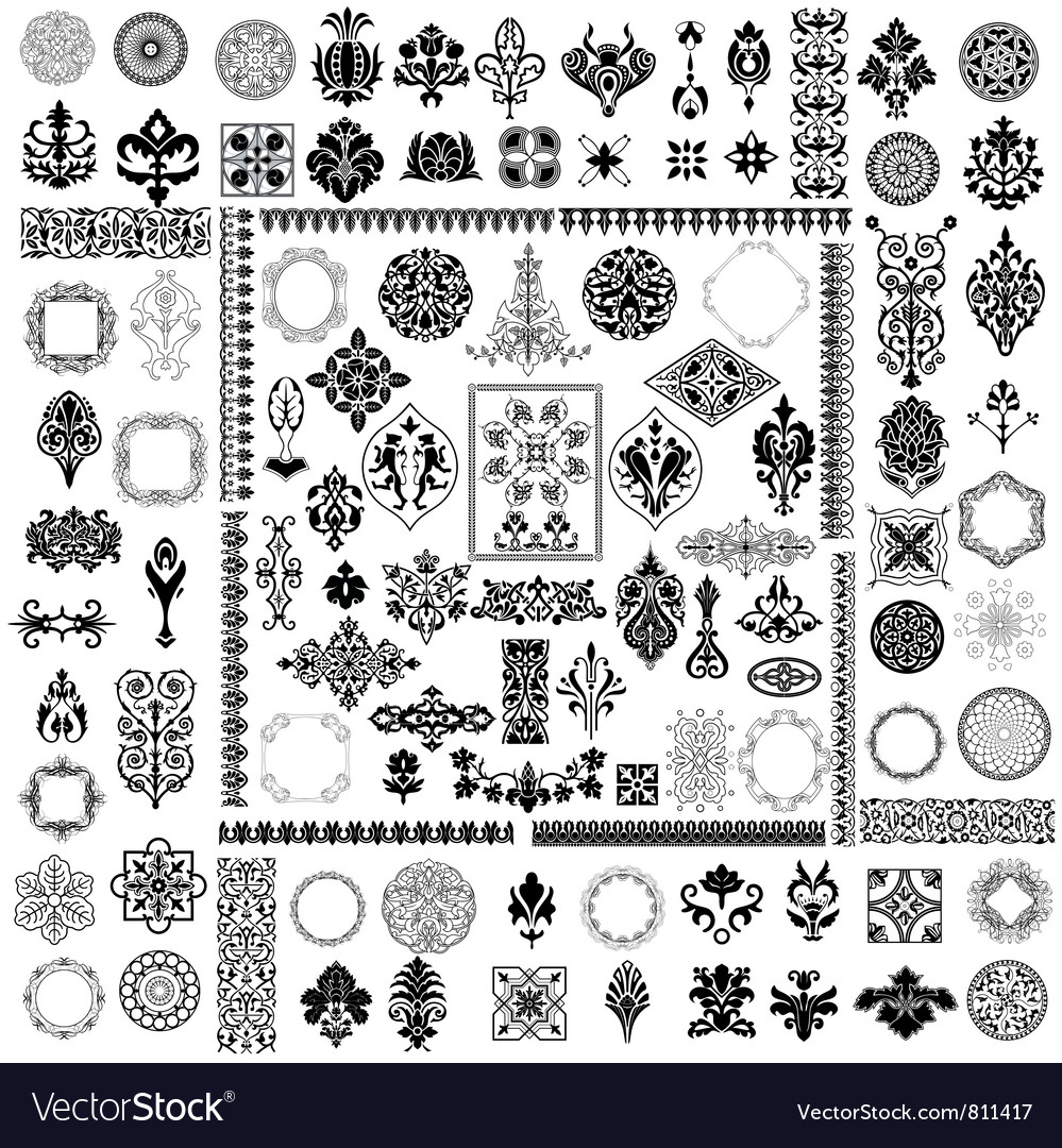 Different style elements vector image