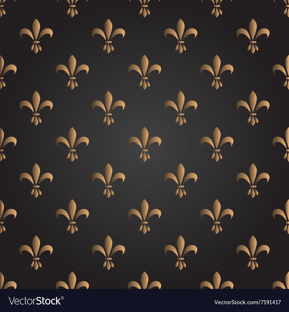 Fleur de lis seamless pattern French
