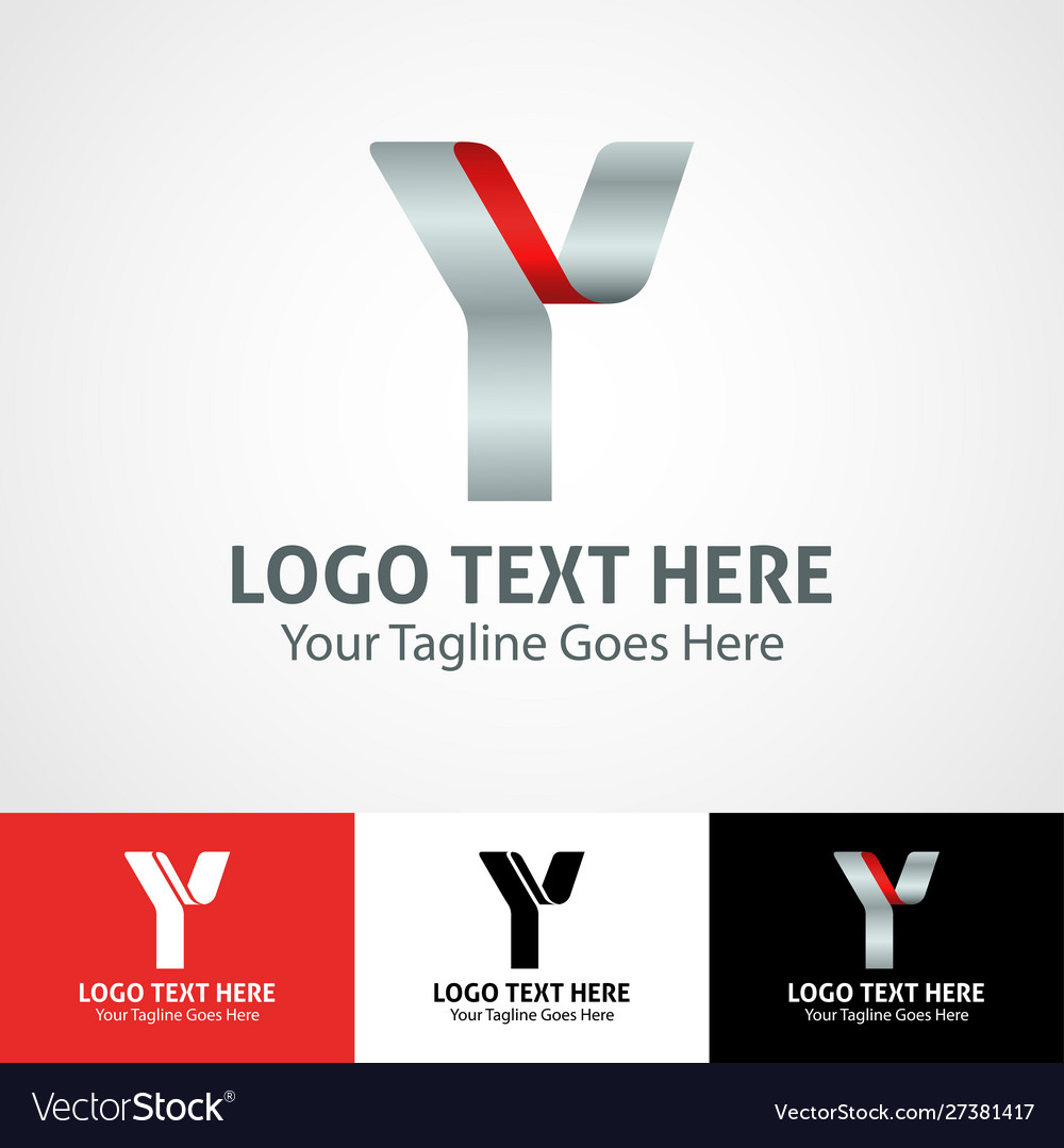 Hi-tech trendy initial icon logo y
