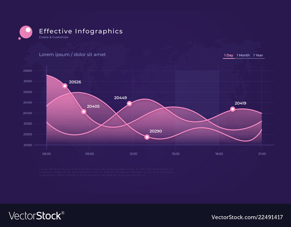 Modern infographic background with