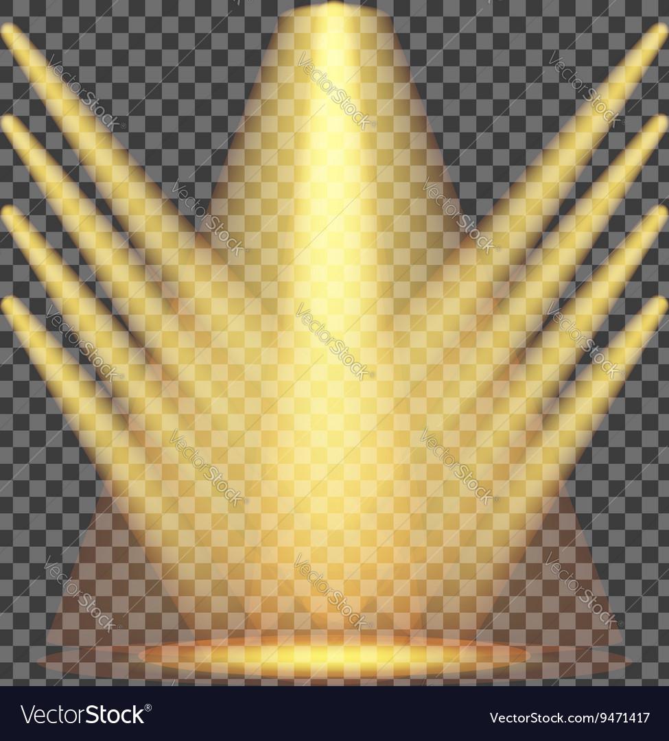 Set of Yellow Spotlights vector image