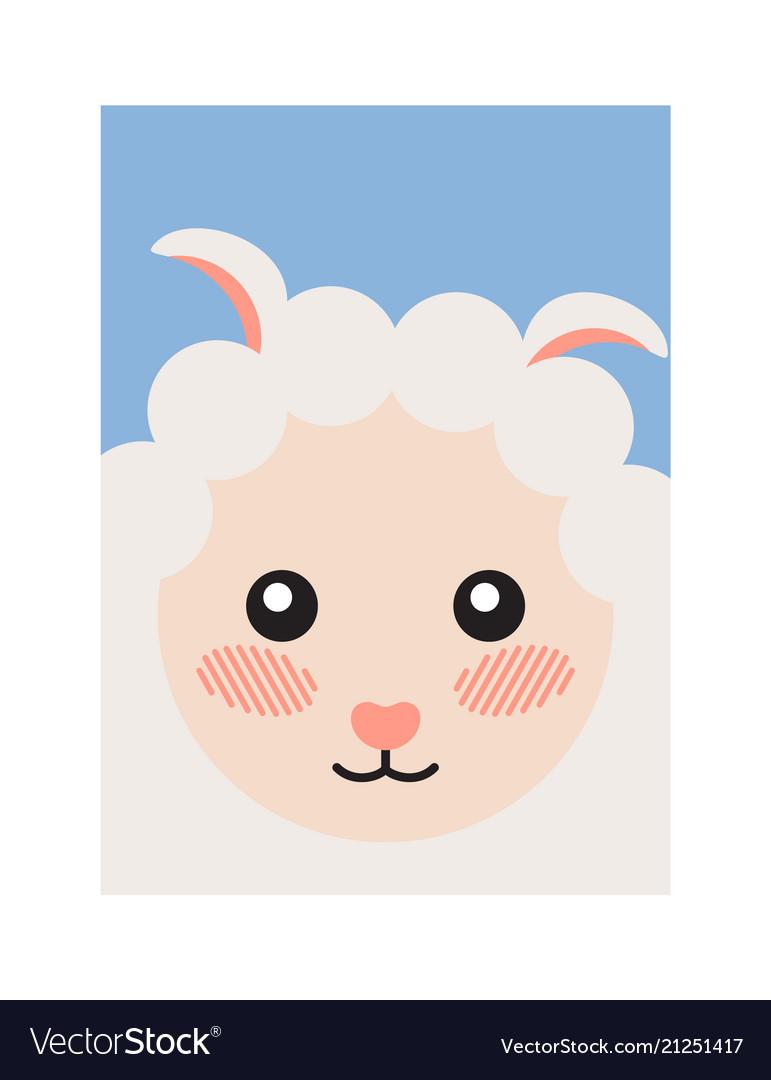 Sheep head book cover design