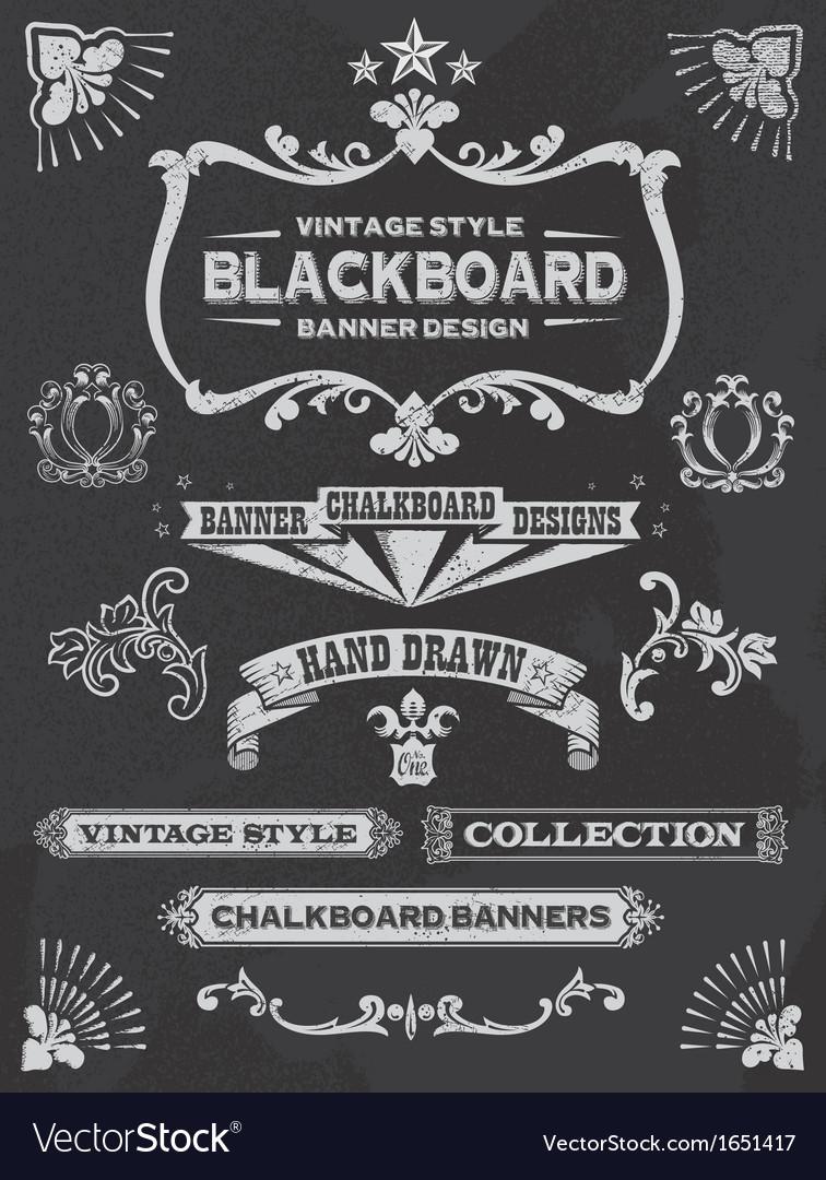 Vintage chalkboard design elements