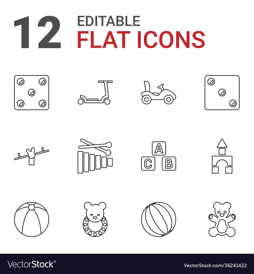12 toy icons