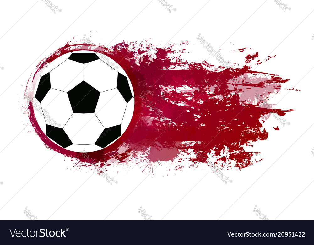 A soccer ball with watercolor