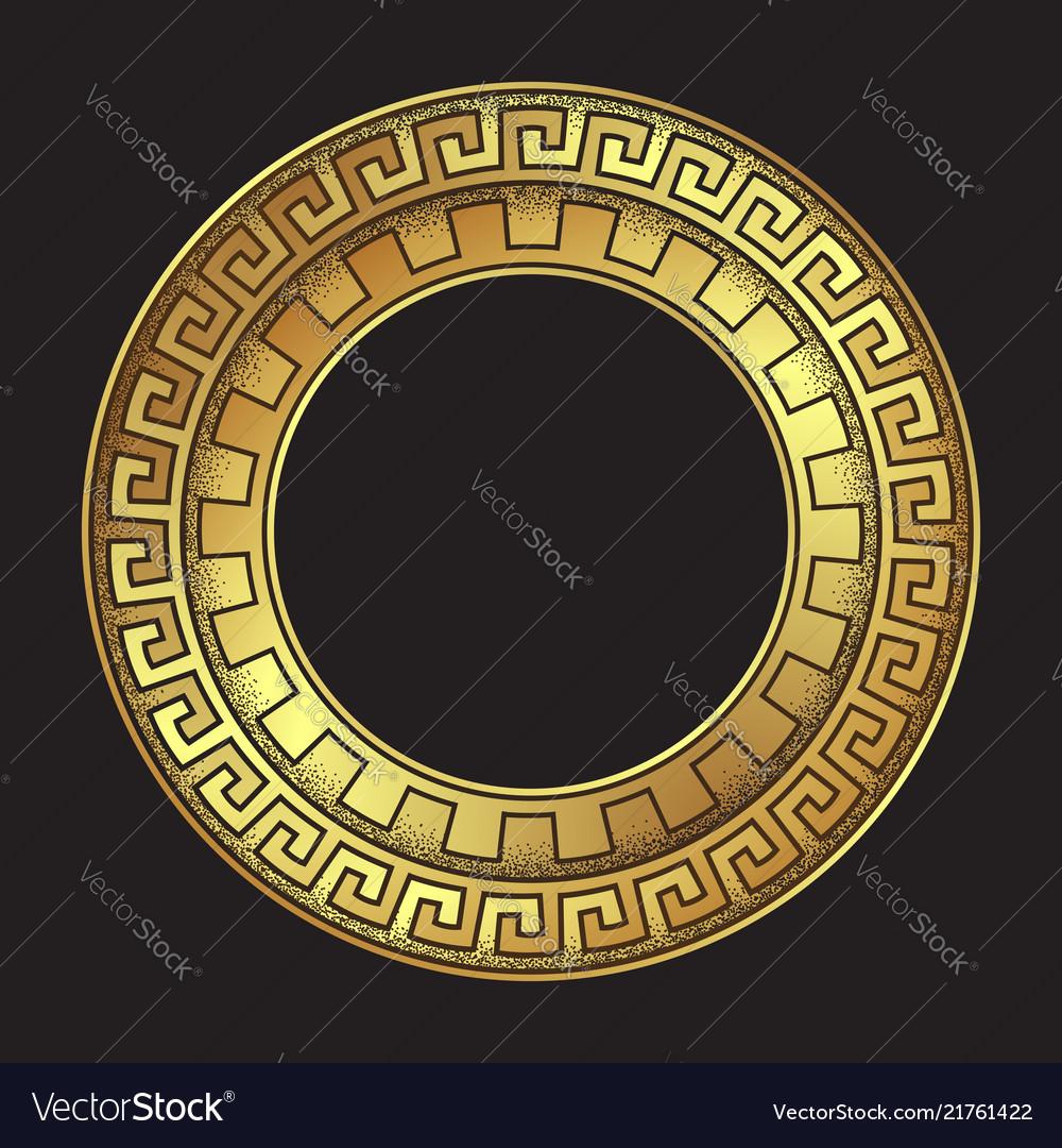 Antique greek style gold meander ornament