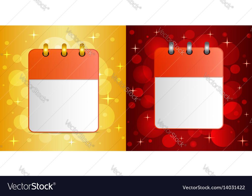 Blank sheet of calendar on festive background