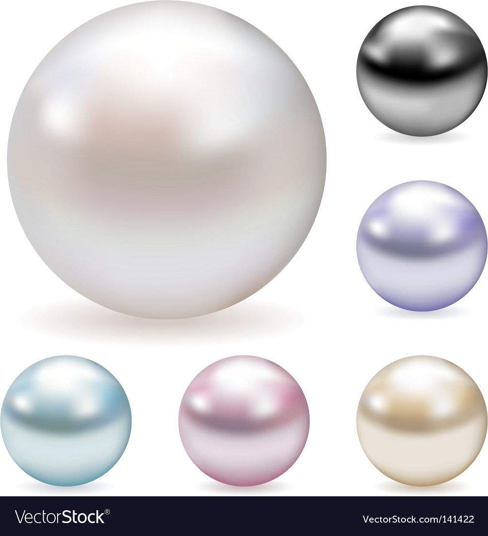 Color pearls Royalty Free Vector Image