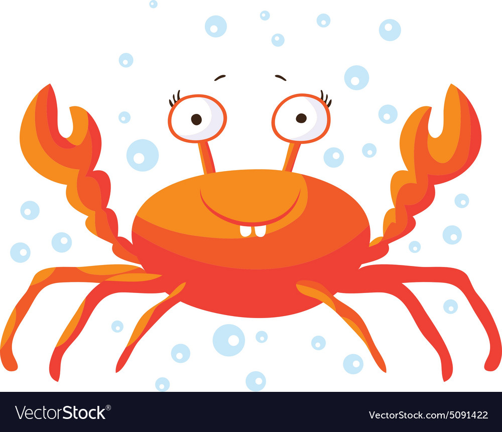 Cute crab isolated T-Shirt design for children