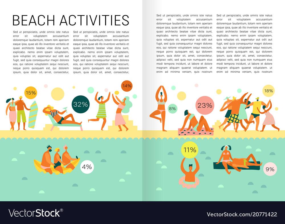 Flat vacation infographics