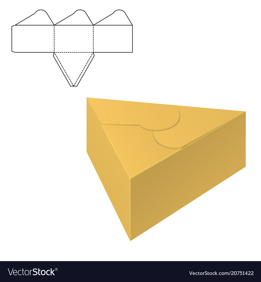 folding package template royalty free vector image