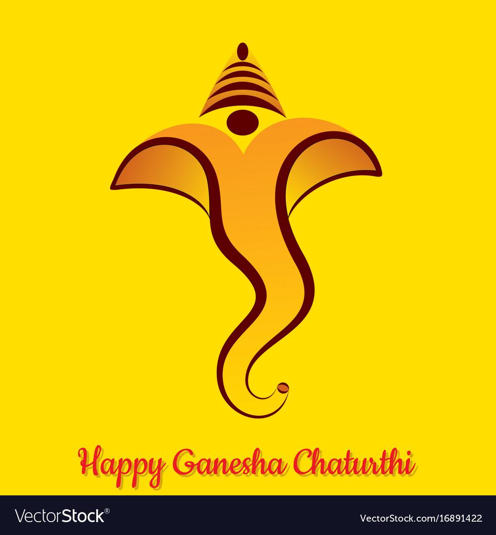 Ganesha Chaturthi Utsav Greeting Card Royalty Free Vector