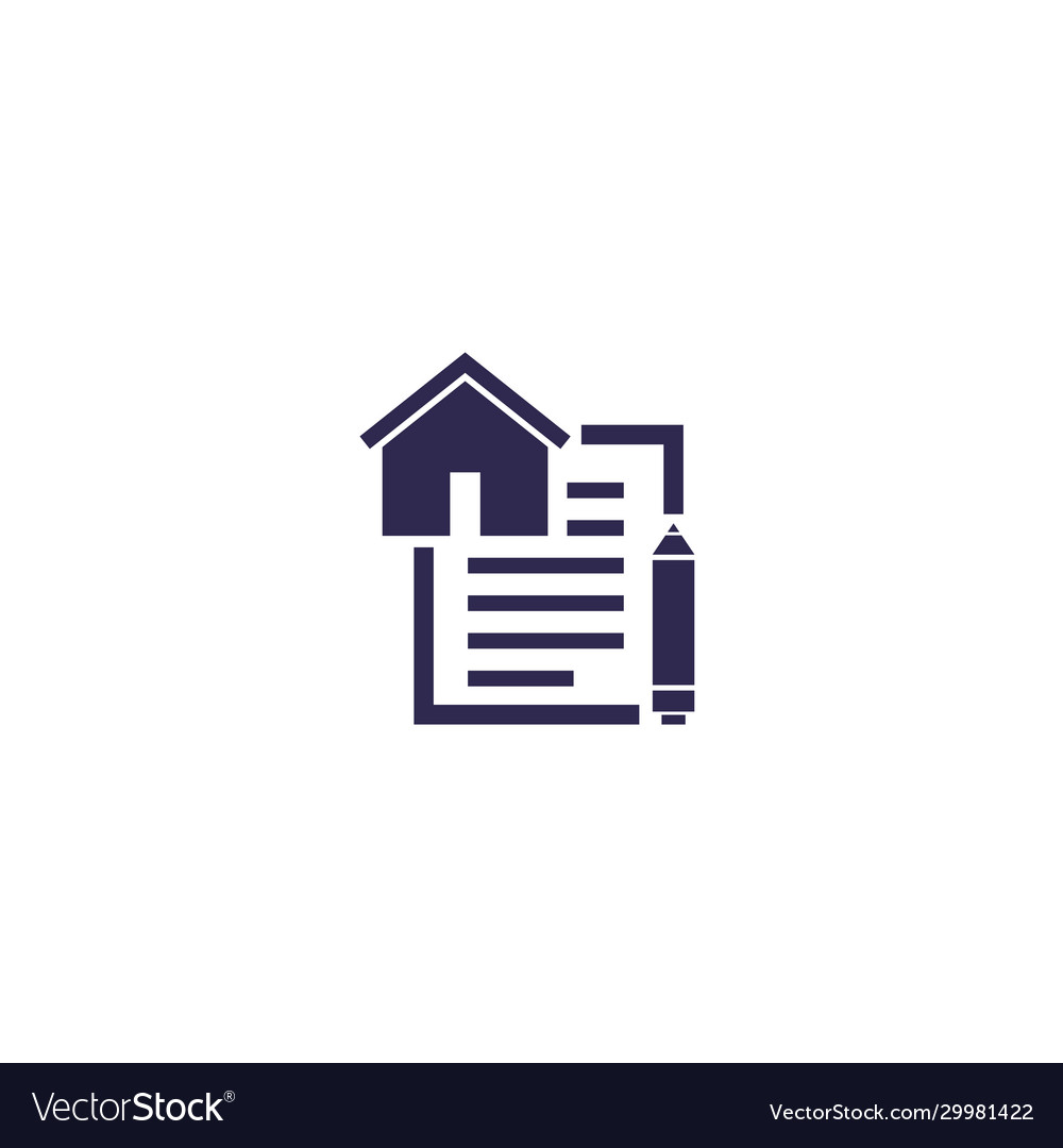Lease contract icon