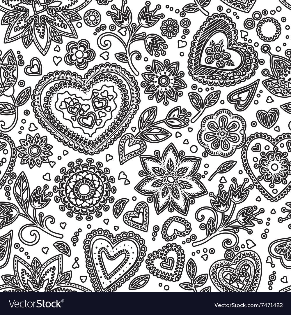 Love hearts seamless pattern 5