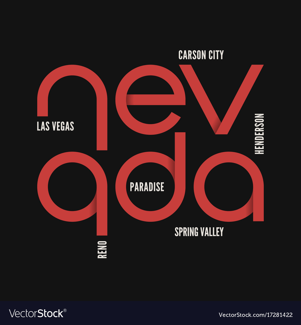 Nevada state t-shirt and apparel design