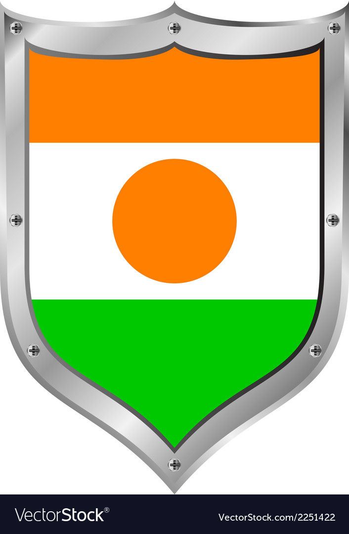 Niger flag button