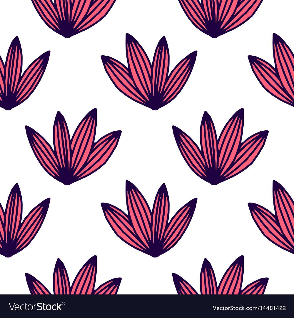 Seamless tropical jungle palm leaves pattern