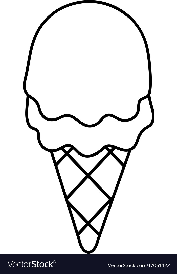 strawberry ice cream icon outline line style vector image