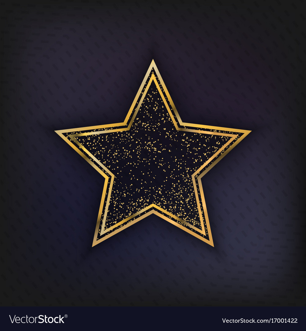 Walk of fame star isolated