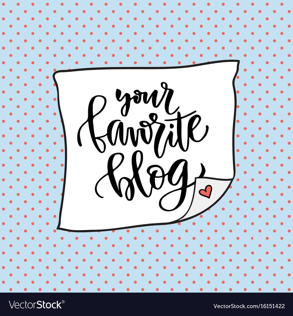 Your favorite blog social media icon handwriting
