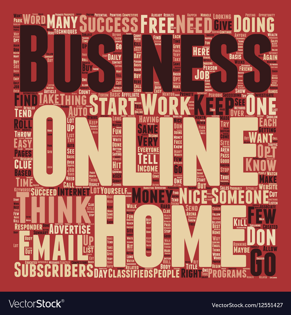 Basic Online Business Techniques text background