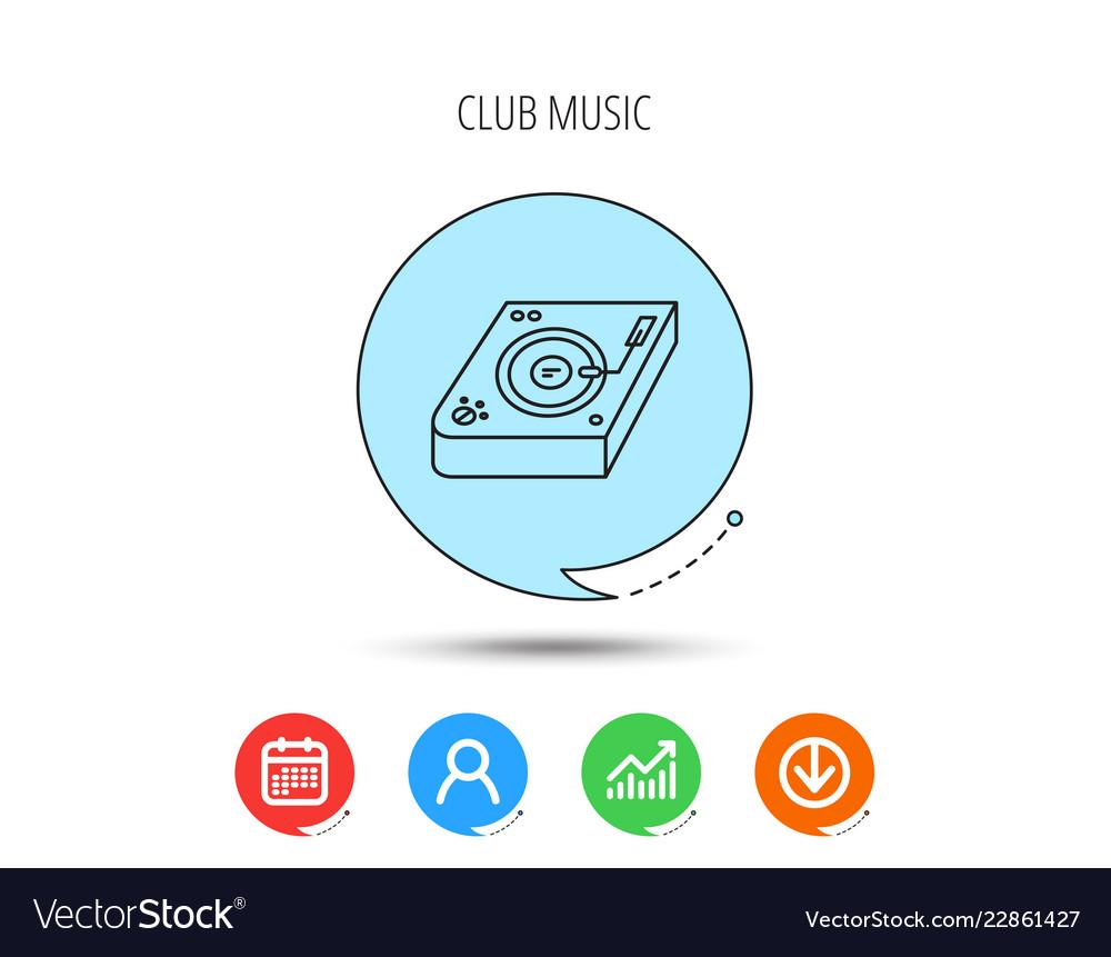 Club music icon dj track mixer sign