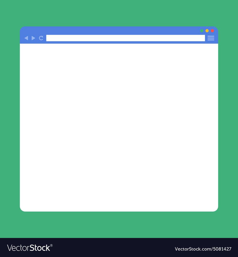 Flat blank browser window