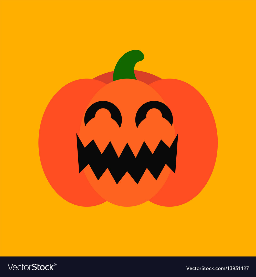 Flat icon stylish background halloween pumpkin