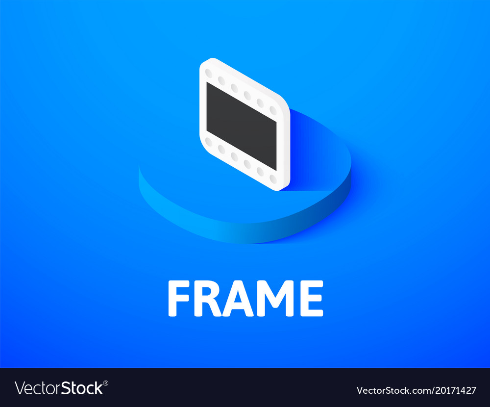 Frame isometric icon isolated on color background