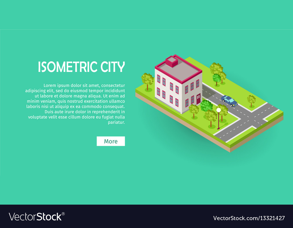 Isometric icon of two storey office center web