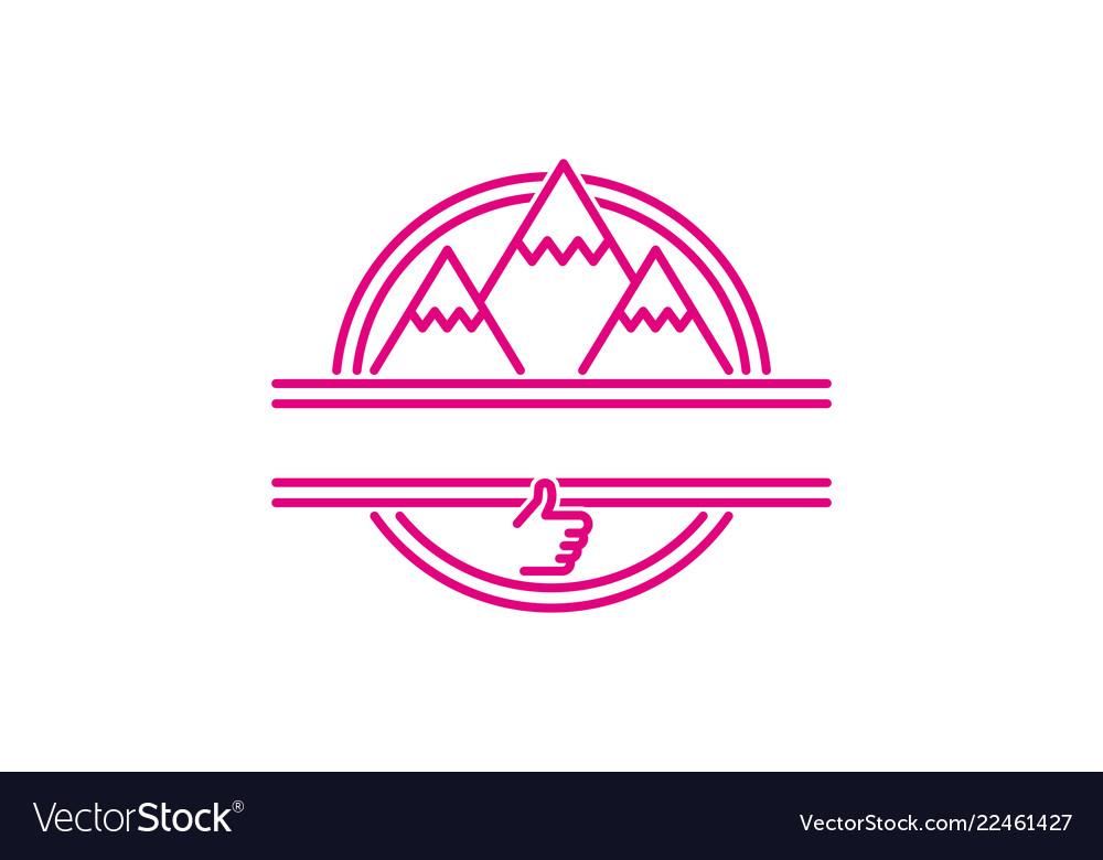 Mountain adventure mono line logo designs