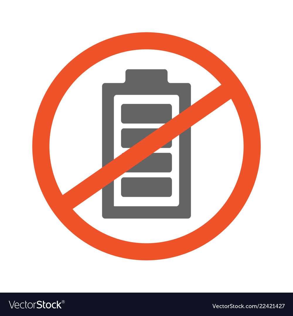 No battery symbol design forbidden